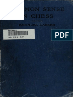 Common Sense in Chess - Lasker