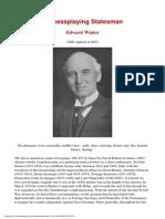 Edward Winter - A Chessplaying Statesman