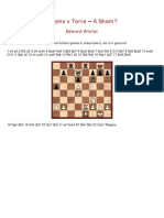 Edward Winter - Adams vs Torre – A Sham