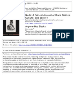 Anyone but Blacks. Souls. a Critical Journal of Black Politics, Culture and Society.