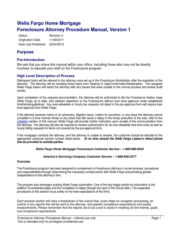 wells fargo s foreclosure attorney procedure manual 1 foreclosure rh scribd com