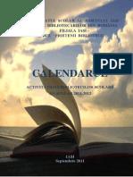 Calendarul Activitatilor Bibliotecilor Scolare 2011-2012