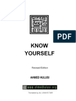 Know Yourself Final Edited Version by Ahmed Hulusi