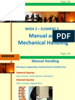 NEBOSH IGC2 Elements 2 (Manual and Mechanical Handling)