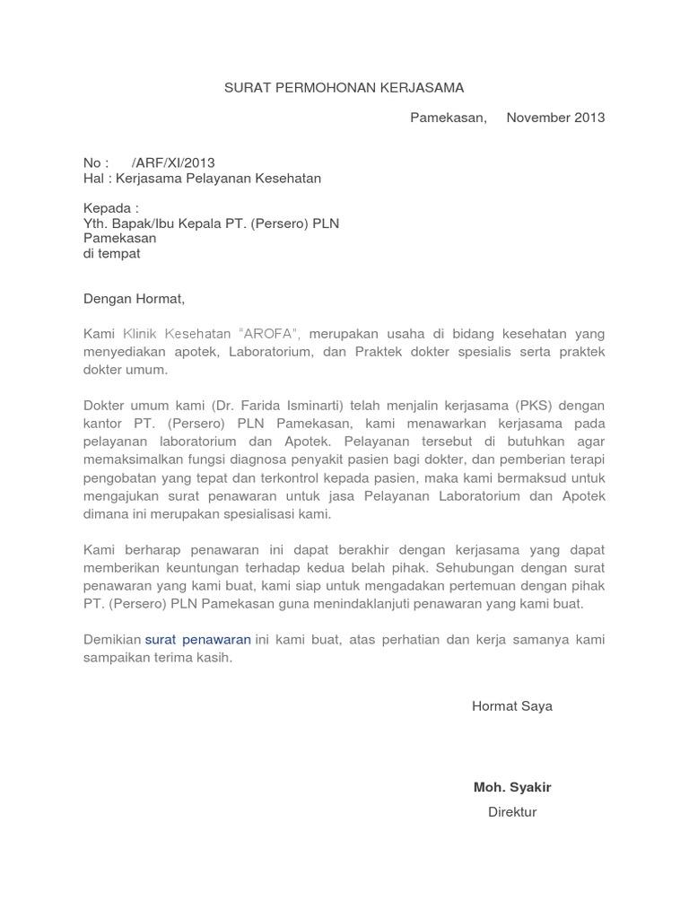 Surat Permohonan Kerja Hotel - Rasmi Ru