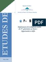 Déploiement de la téléphonie mobile 4G au Maroc, opportunités et défis