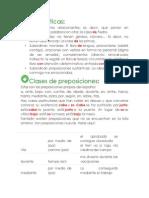 Guía y ejercicios de preposiciones