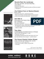 Duke University Press Program ad for the EMP Pop Conference 2014