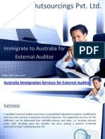 Immigrate to Australia for External Auditor