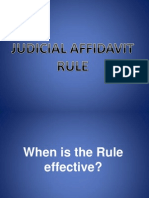 Report (Judicial Affidavit Rule)