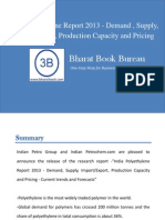 India Polyethylene Report 2013 - Demand , Supply , Import-Export , Production Capacity and Pricing - Current Trends and Forecasts