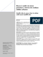 GOUVEIA, 2010. Riscos à saúde em áreas próximas a aterros de resíduos sólidos urbanos