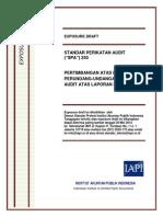 Exposure Draft Spa 250 - Pertimbangan Atas Peraturan Perundang-undangan Dalam Audit Atas Laporan