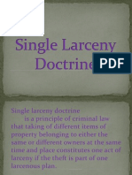 Single Larceny Doctrine
