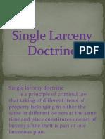 Single Larceny Doctrine