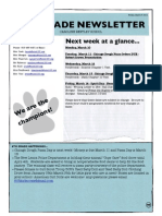 6th grade newsletter march 7 2014