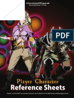Player Character Reference Sheets