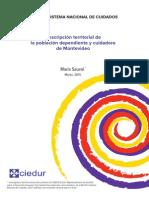Descripción territorial de la población dependiente y cuidadora de Montevideo
