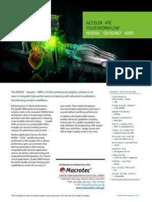 Brochure Nvidia Quadro 4000_Macrotec pdf | Graphics