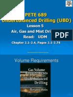 Lesson 5a Air, Gas, Mist Calculations