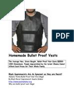 Homemade Bullet Proof Vests