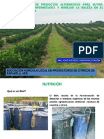 Elaboración y manejo de plaguicidas alternativos en una producion organica