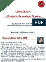 Eduardo Bazo Mega-proyectos