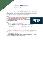 How to use LME DVB