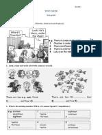 Test Paper 3rd Grade-martie