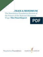 More Than a Minimum