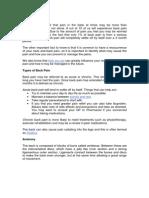 Back Pain Information PDF