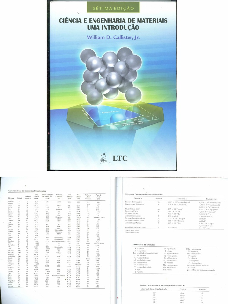 Cincia E Engenharia Dos Materiais Callister Pdf