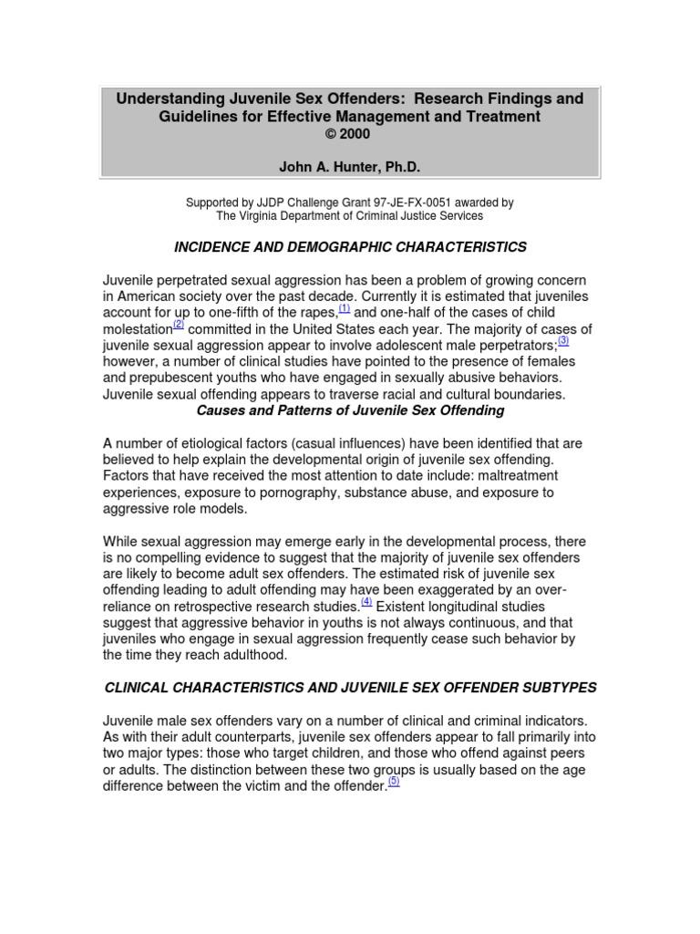 Orgins for sex offender treatment