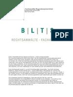 BLTS Rechtsanwälte Fachanwälte Regensburg berichtet