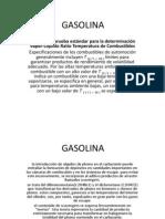 Justificaciones GASOLINA