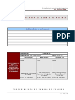 EC_ECOMpr004 Cambio de Polines Carga, Retorno e Impacto y de Bastidores