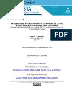 Antecedentes Internacionales Nacionales Tic Nivel Superior Trayectoria Panama Cano 01