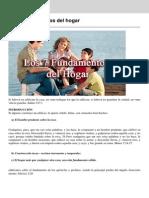 Los 7 Fundamentos Del Hogar