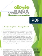 Apariția disciplinei -Ecologie Urbană