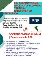 Vigencia Del Cooperativismo, Su Contribucion a La