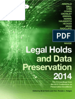 Legal Holds Data Preservation 2014