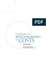 Guidelines on Benchmarking of Costs 2013-03