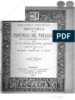 HISTORIA DE LA PROVINCIA DEL PARAGUAY DE LA COMPAÑIA DE JESUS POR NICOLAS DEL TECHO - TOMO CUARTO - 1897 - PORTALGUARANI