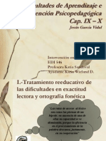 Dificultades de Aprendizaje e Intervencion Psicopedagogica Cap IXy X