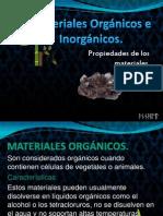 Materiales Orgánicos e Inorgánicos
