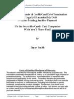 Secrets of Credit Card Debt Termination