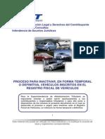 Proceso Para Inactivar Vehiculos en Forma Temporal o Definitiva-Abril 2013