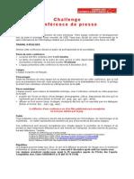 Challenge Conférence de presse Aquitaine