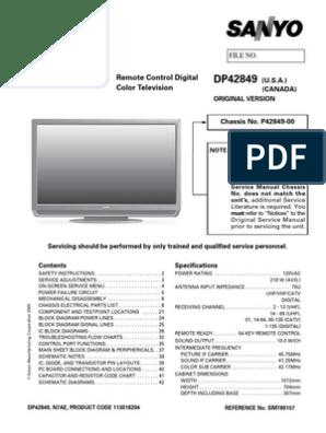 sanyo dp42849 00 (lcd) service manual electrostatics field