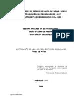 DISTRIBUIÇÃO DE VELOCIDADES EM TUBOS CIRCULARES -TUBO DE PITOT